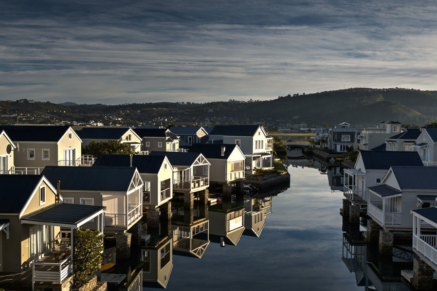 Architecture Building Exterior Cloud - Sky House High Angle View TOWNSCAPE Knysna South Africa
