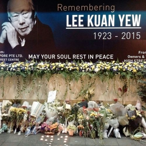 """Remembering Lee Kuan Yew 1923-2015"" erected at High Street Centre just opposite to the main entrance of the Parliament House of Singapore Parliament House Lky Singapore"