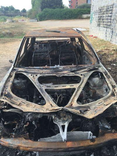 Burned Car Burned Car VW Volkswagen No Filter Damaged Destruction