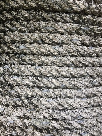 Rope Full Frame Backgrounds Pattern No People Textured  High Angle View In A Row Striped Abstract Repetition Outdoors