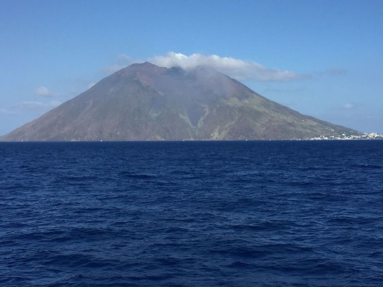 Isole Eolie..... Stromboli Island Stromboli Volcano Stromboli Isole Eolie Scenics Beauty In Nature Tranquil Scene Tranquility Nature Sea Blue No People Mountain Outdoors Sky Water