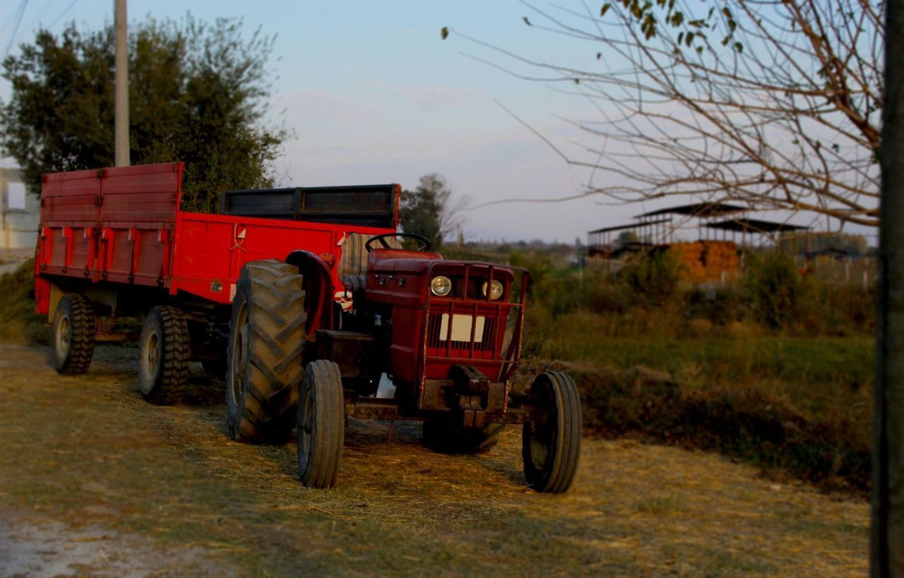 VIEW OF TRACTOR ON FIELD