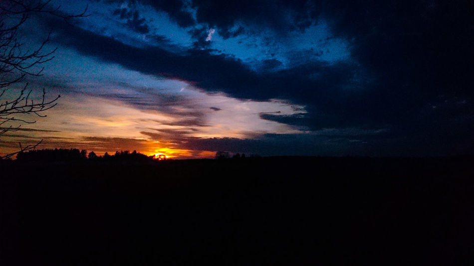 sun up Sweden The True Story EyeEmNewHere Sunset Silhouette Dramatic Sky Sky Cloud - Sky Countryside Power In Nature