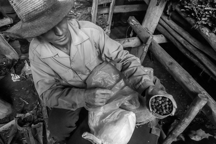 Adult Blackandwhite Blackandwhite Photography Blackandwhite Portrait Blackandwhitephotography Cigar Cuba Cuban Cuban Cigar Day Farm Farmer Men Middleofnowhere One Person Outback Outdoors People Real People Tobacco