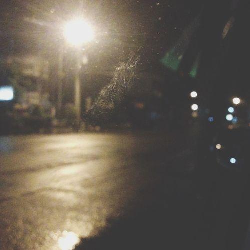Night drive. Night Lights Night Love
