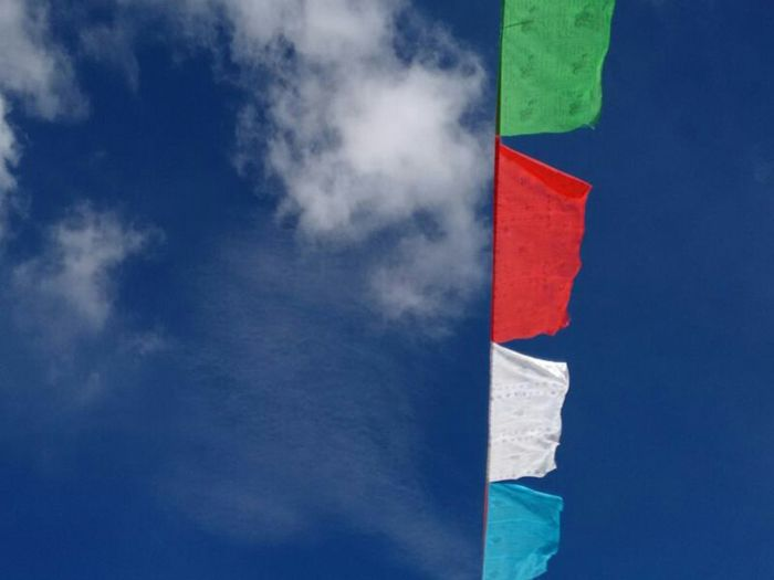 Blue Blue Sky Bluesky Prayer Flags  Taking Photos Moment Lens Perfect Moment Captured Moment Enjoying Life On The Way Go To Tibet Tibet China Mobile Photography