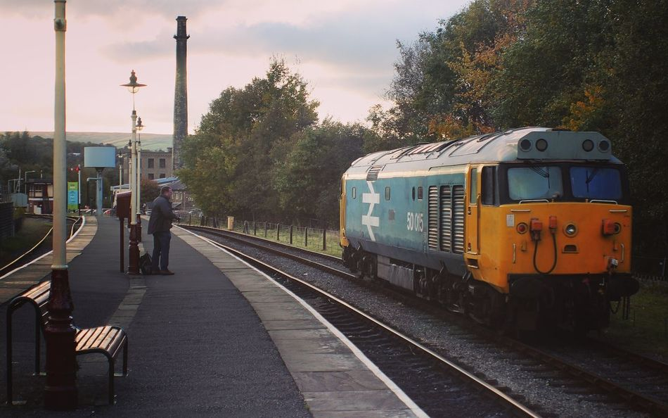 Locomotive Transportation Travel Mode Of Transport City Travel Destinations Business Finance And Industry Tree Outdoors No People Sky Day Class 50