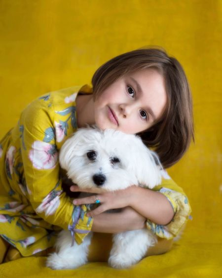 Hanna & Lucky EyeEm Selects Friendship Pets Portrait Child Smiling Childhood Happiness Dog Looking At Camera Girls