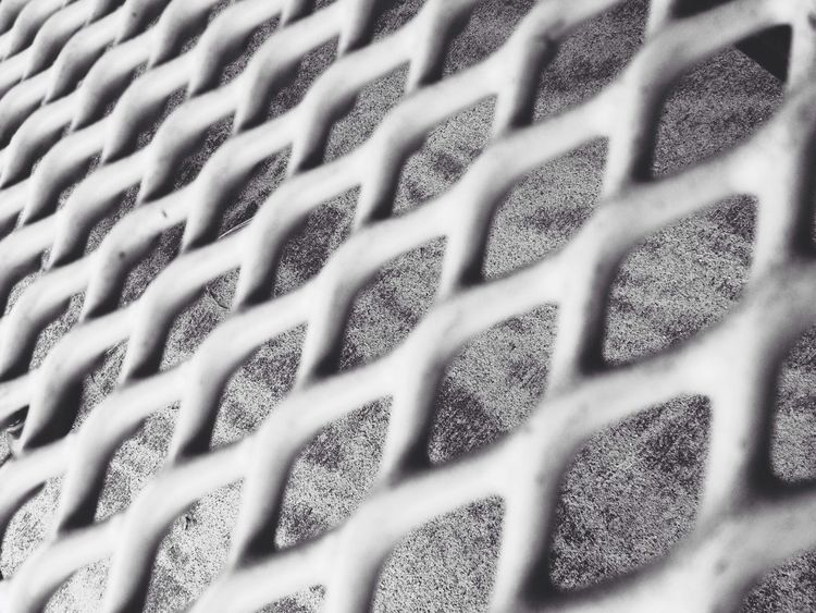 Machined park bench, angled. Urban Geometry Black & White Playground Diamonds
