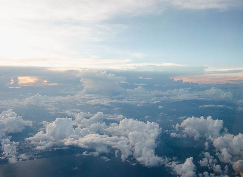 The fluffy cloud scape view from airplane window. Heaven like peaceful abstract conceptual background Airplane Atmosphere Azure Beauty In Nature Blue Climate Cloud Cloud - Sky Clouds And Sky Flight Fluffy Forecast Heaven High Horizon Nature Peaceful Plane Scenics Sky Skyscape Travel View Weather White