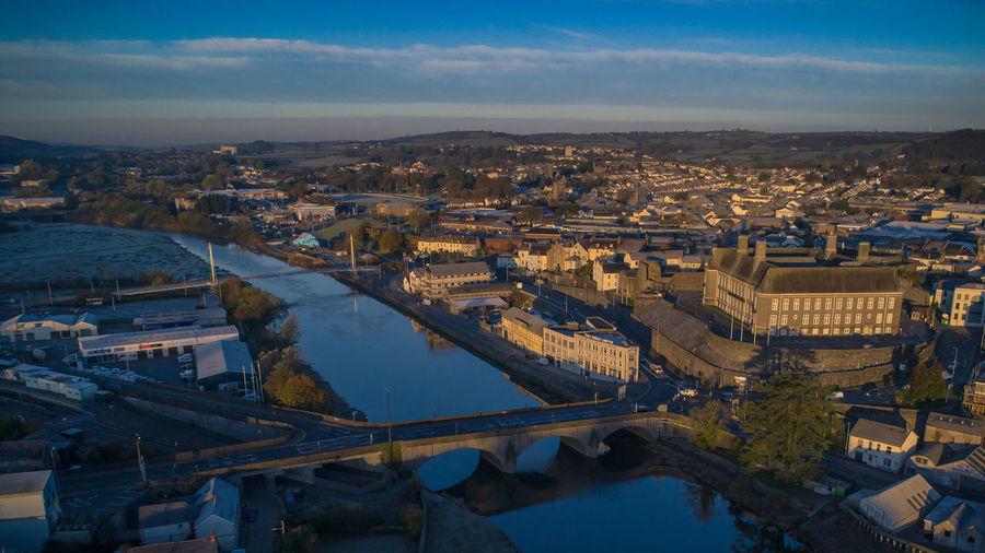 Carmarthen Wales Wales UK Wales❤ Carmarthenshire River Bridge Over Water Bridge River Towy