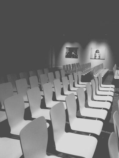 Fantastic Exhibition Art Interior Design Black And White