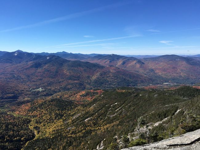 Mountain Range Tranquil Scene Beauty In Nature Sky Landscape Scenics Adirondack Mountains Autumn Colors