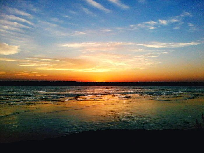 Sunset Dramatic Sky Beauty In Nature Sea Scenics Landscape Reflection Nature Beach Water Cloud - Sky Sky Horizon Over Water Cloudscape Majestic Sun Tranquility Idyllic Tranquil Scene Outdoors