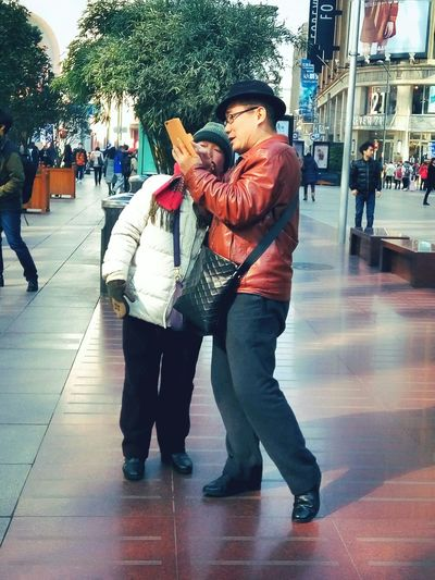 Shanghai, China Nanjing Road Check This Out Taking Photos Traveling Share Old Couple People Watching People Photography