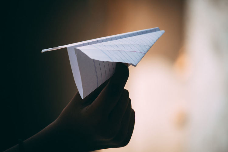 Air Vehicle Airplane Art And Craft Childhood Close-up Craft Flying Folded Holding Human Body Part Human Hand Paper Airplane Unrecognizable Person #FREIHEITBERLIN