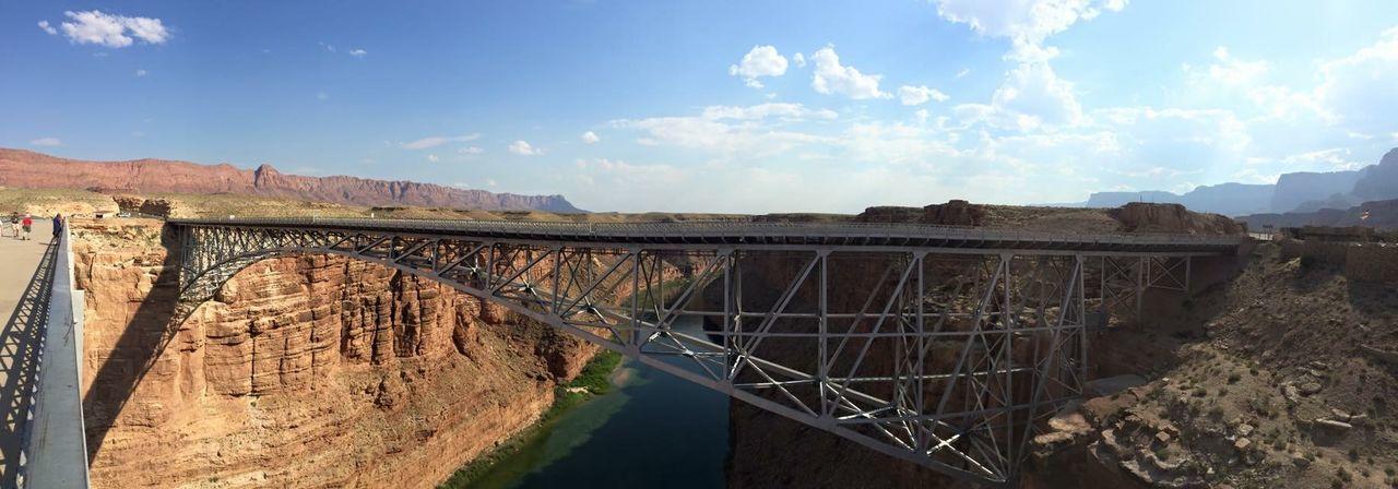 Navajo bridge over river