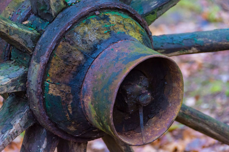 wheel Metal Rusty Focus On Foreground Abandoned No People Bolt Wheel Old Day Weathered Outdoors Decline Damaged Run-down