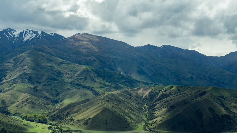 Dramatic landscape otago nz Landscape Mountain Beauty In Nature Nature Outdoors No People Nature Springtime Green Color Loneliness Beauty In Nature Hiking New Zealand Photography