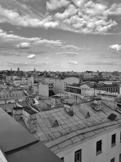 Moscow June 2018 Intersection City Street City View  Cityscape Panoramic View Panoramic Photography Panoramic Panorama Black&white Blackandwhite Urban Photography Urban Landscape Urbanphotography Urban Skyline Rooftop View  Rooftops Rooftop Roof Architecture Building Exterior Built Structure Cloud - Sky Building City Sky Cityscape Roof Day No People TOWNSCAPE