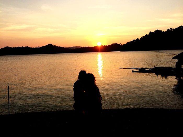 Sunset Ratchaprapa Surattani Thailand