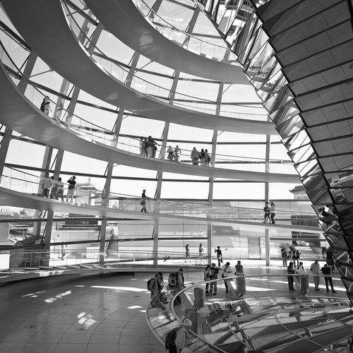 Tourists walking in the reichstag