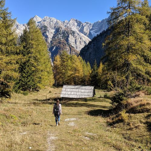 Mountain Outdoors Day Mountain Range Landscape Scenics Road Nature One Person Adult One Man Only Beauty In Nature Sky Tree Adults Only Only Men People Slovenia Nature Triglav National Park Adventure EyeEm Selects Sunlight Casual Clothing Travel Destinations