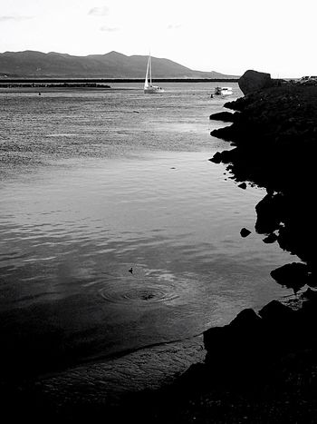 Taking Photos Boats Landscape Photography EyeEm Best Shots - Landscape Sunset_collection Black & White Morro Bay Outdoors Boat Blackandwhite