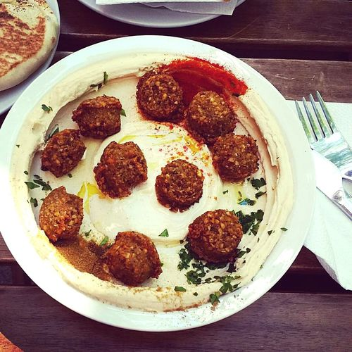 Food Plate Ready-to-eat Food And Drink Indulgence Freshness Healthy Eating Temptation Hummus Falafel Healthy Food Healthy Lifestyle Table Directly Above Mediterranean Food Mediterranean Diet