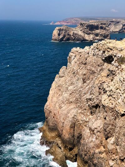 Cliffs EyeEm Selects Sea Water Beauty In Nature Beach Scenics - Nature Rock Land Rock - Object Solid Nature Horizon Over Water Tranquil Scene Tranquility Day Sky Horizon No People Rock Formation High Angle View Outdoors