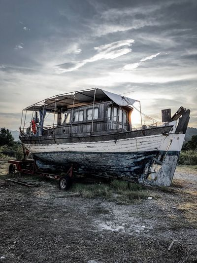 Old boat Greece
