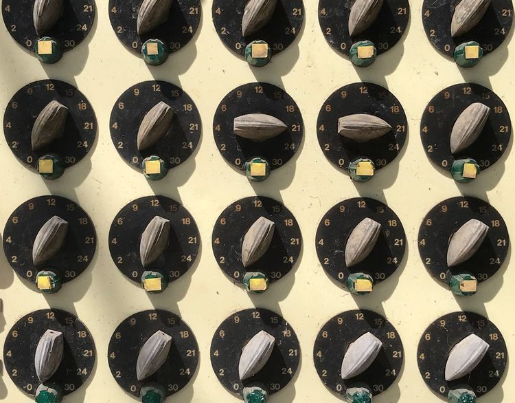 Knobs And Dials Knobs Machinery Control Control Panel Machinery Dials In A Row Full Frame Backgrounds Arrangement Side By Side Repetition Indoors  Large Group Of Objects No People Still Life Pattern Order Design Close-up