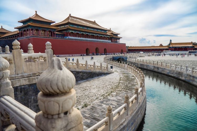 The Forbidden City, from the inside. What a structure! It's so cool what our ancestor were be able to create! Ancient China Historic Site Tianmen Tianmen Square China Beijing Forbidden City Architecture Built Structure Building Exterior Travel River Building History