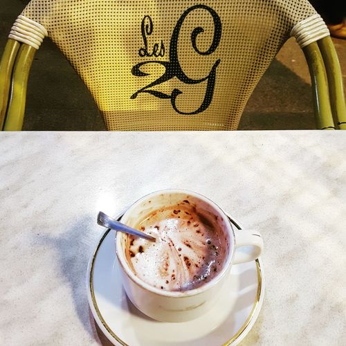 Aixenprovence Drink Coffee - Drink Food And Drink Indoors  Close-up Table No People Refreshment Freshness Day Lesdeuxgarcons Chocolatchaud Chocolate Noel2016 Coursmirabeau First Eyeem Photo
