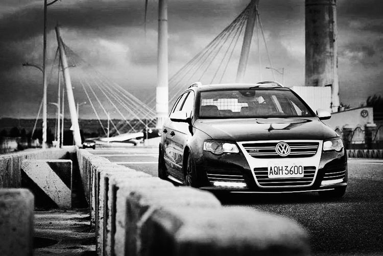Volkswagen R36 Passat Mode Of Transportation Transportation Car Motor Vehicle Land Vehicle Day Government Sky Street Auto Post Production Filter Selective Focus City Architecture No People Security Outdoors Occupation Road