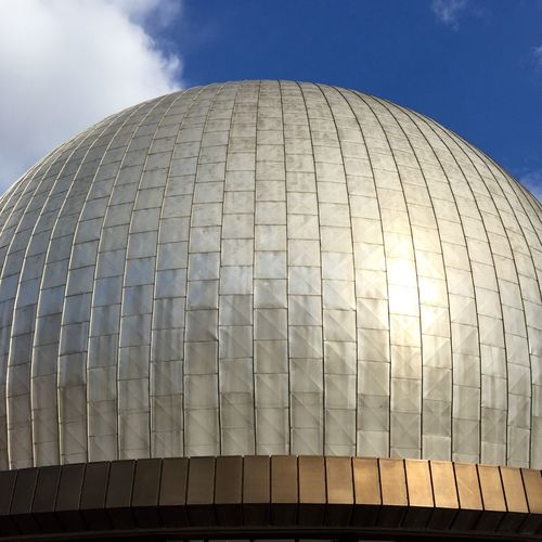 Architecture Building Exterior Built Structure City Day Dome Low Angle View Modern No People Outdoors Planetarium Reflection Sky Sun Sunlight