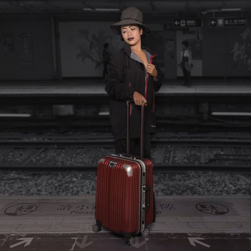 travel girl Filipina Philippines Philippinen Red Color Black Hair Suitcase Hat Girl With Hat Girl With Suitcase HongKong EyeEm Selects Luggage Beautiful Woman Beautiful People Suitcase Beauty Old-fashioned Journey Portrait Train - Vehicle Elégance Passenger Train Rail Transportation Railway Station Railway Station Platform Metro Train Public Transportation The Modern Professional