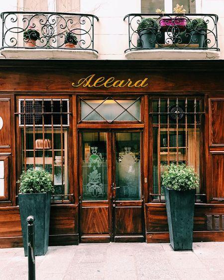 Vintage bistrot facade in Paris Building Exterior Outdoors Architecture Bistrot Paris Allard