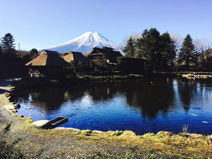 Mtfujisan Japan Pond Lastsamurai Snow Reflections Picturesque Heavenly Mtfuji