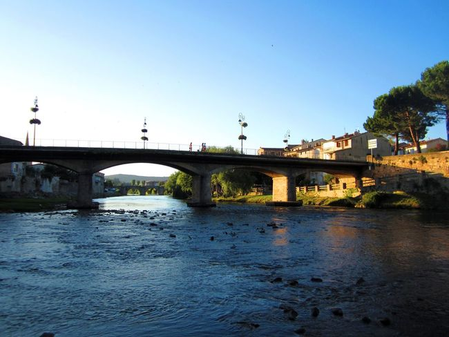 Evening in Limoux near the river. Amateur Amateurphotography Arch Architecture Bridge Bridge - Man Made Structure Built Structure City Clear Sky Connection Day Nature No People Outdoors River Sky Transportation Tree Water Limoux