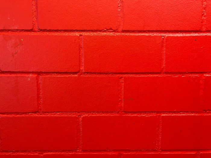 Red wall Wallpapers Red Wall - Building Feature Pattern No People Architecture Close-up Built Structure Brick Day Paint Outdoors Brown In A Row Brick Wall Textured  Vibrant Color Wall Building Exterior