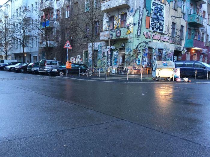 City street during rainy season