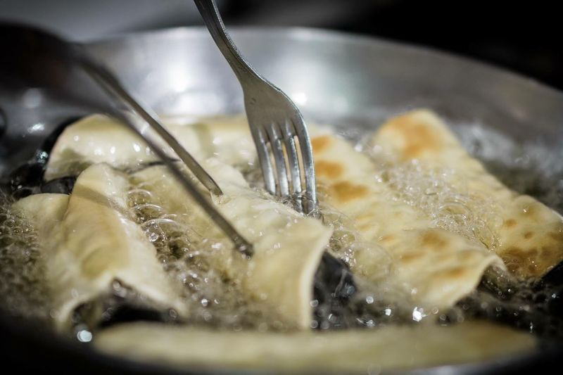 Close-up of food in cooking pan
