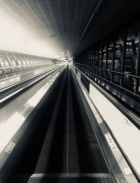 Transportation Indoors  Built Structure Technology The Way Forward No People Public Transportation Architecture Convenience Modern Illuminated Day Futuristic Mechanic Mechanical Things Airport