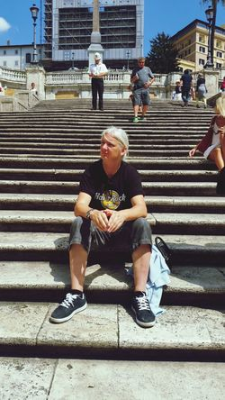 Me st the Spanish Steps Me, Not Pretty I Know Rome 2014
