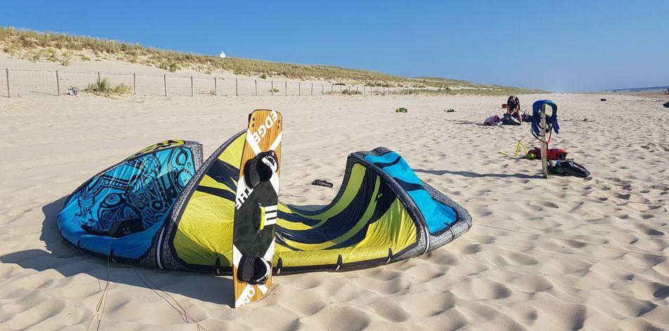 set Kitesurfing Su2 Naish Kiteboarding Summer Sand Dune Beach Sand Sky Coast