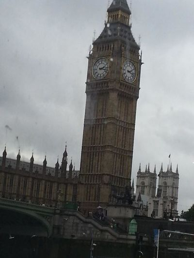 London Taking Photos Traveling Holiday taking photos of Big Ben from our water taxi!