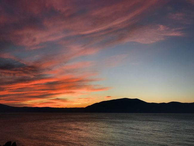 Radhime #Radhime Splash Colors #colors #Splash Sunset Scenics Beauty In Nature Nature Tranquil Scene Tranquility Mountain No People Sky Silhouette Outdoors Sea Water Mountain Range Day