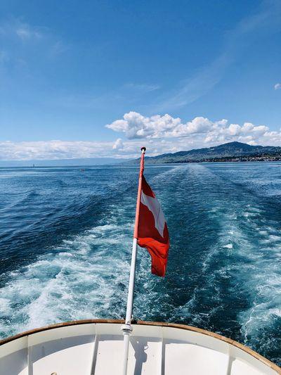 Scenic view of lake léman