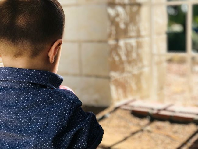 EyeEm Selects One Person Boys Real People Rear View Childhood Focus On Foreground Indoors  One Boy Only Day Close-up People Nofilter Cute Inner Power Inner Power